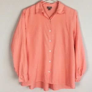 J. Jill | Peach Button Down Shirt | Small